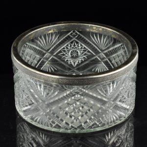 Antiikne Tsaari-Vene kauss, kristall,  84 hõbe    Antiikne Tsaari-Vene kristallkauss hõbe 84 äär