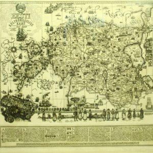 Olev Soans - Eesti kultuuriajalooline kaart MÜÜDUD !!!