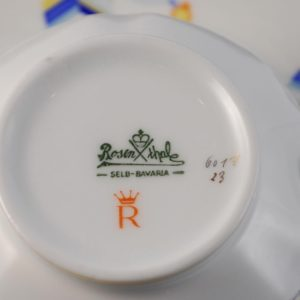 Rosenthal portselan tass,  alustass ja taldrik MÜÜDUD