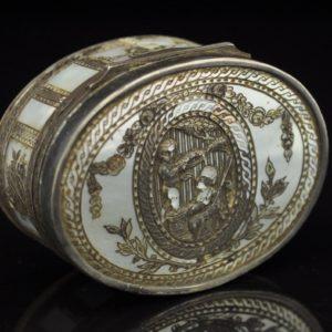 18 sajandi karp - pärlmutter, kilpkonnaluu, hõbe