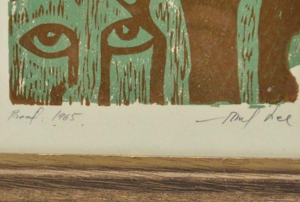 Abel Lee (1918-2010) mixed technique in 1965