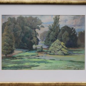 """Akvarell Jm Parkvon Chateau du Bois"""" Frost 1918a"""""""