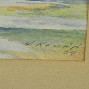 """Akvarell Tartu"""" 1954a"""" 14660 Len:14889"""