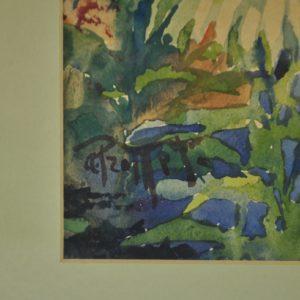 """Aleksander Promet (1879-1938) Krüsanteemid"""" akvarell"""""""