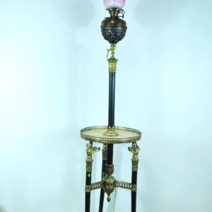 Empire style floor lamp, stone tiles