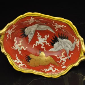 Antique Vienna porcelain bowl, hand paiting