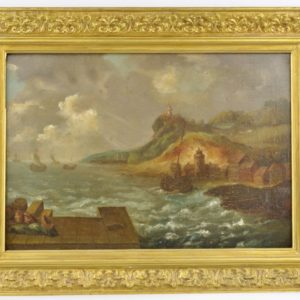 Antiikne õlimaal - Tormine meri 18 saj.