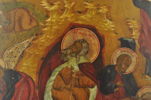 Antiikne 19.saj. Vene ikoon - Elias läheb taevasse