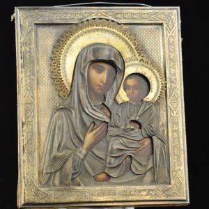Antiikne 19.saj. Vene ikoon Kaasani Jumalaema
