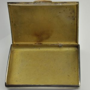 Antique EW cigarette case, silver 875