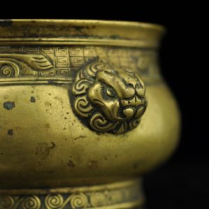 Antique Chinese bowl, bronze