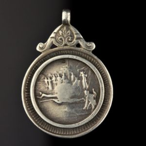 Antique pendant, silver, 1909 England