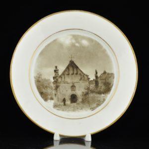 Antique Miklashevski Porcelain Factory plate XIX s SOLD