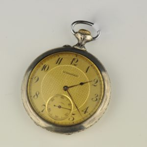 Antique pocket watch Moser, silver 84