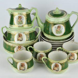 Antique Porcelain coffee set for 5 person - Volhov