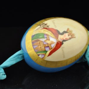 Antique Russian Eastern egg, pocelain, hand painting SOLD