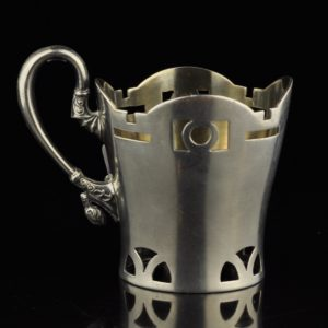 Antique Imperial-Russian silver 84 glass holder