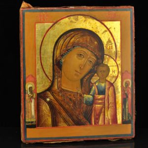 Antique icon Virgin Mary, 18 century