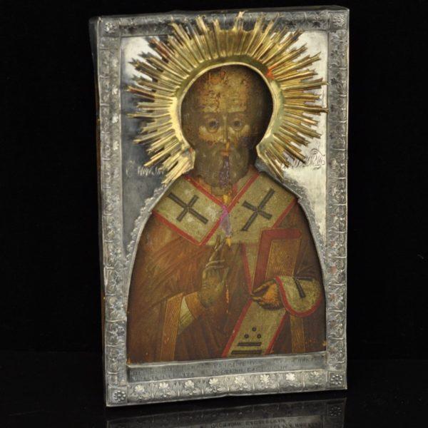 Antiikne Tsaari-Vene ikoon, kate 84 hõbe