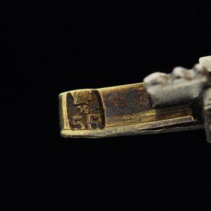 Antique Imperial-Russian bracelet, 56 gold, diamonds