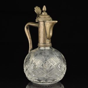 Antique Imperial Russian carafe, crystal, silver SOLD