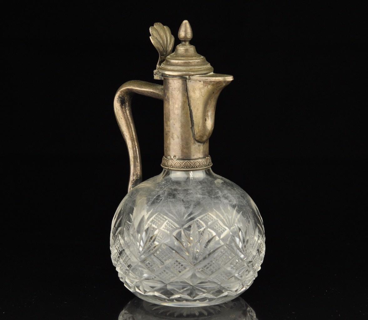 b27f38a0494 Antiikne Tsaari-Vene karahvin, kristall, hõbe 84 MÜÜDUD - Idla Antiik