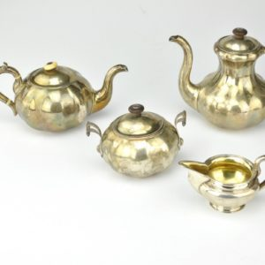 Antique Imperial-Russia coffee set, 84 silver