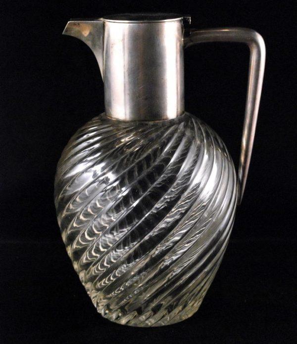 Antiikne Tsaari-Vene kristall veini karahvin hõbekaelaga 84 prooviga