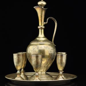 Antique Imperial Russian 84 silver set SOLD