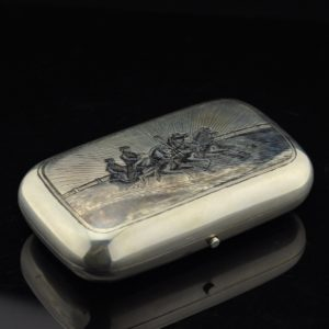 Antique Imperial-Russian cigarette case, 84 silver