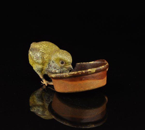 Antiikne Viini pronks figuur - Tibu kausiga