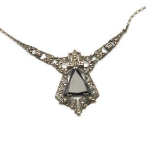 Antique art-deco necklace, 925 silver