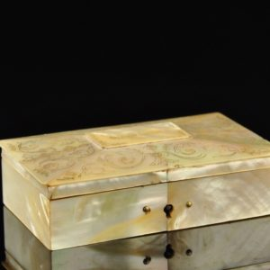 Antique box, mother of pearl