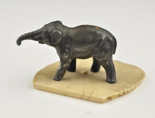 Antiikne elevandi figuur, metall, luust alusel