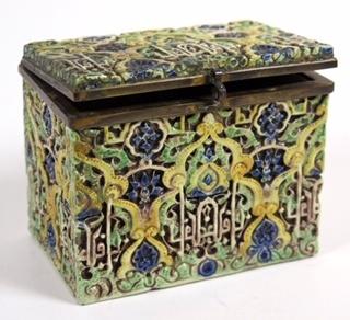 Antiikne fajansist karp,1900a