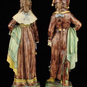 Antiikne fajanss figuuride paar