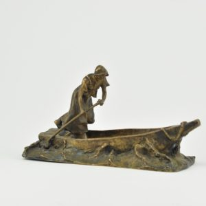 Antique figure - bronze, sign. H.Miller