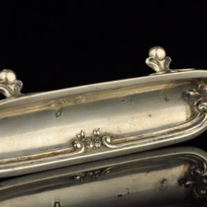 Antique silver tray, French