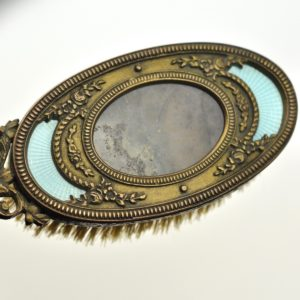 Antique brush, art nouveau,bronze,enamel