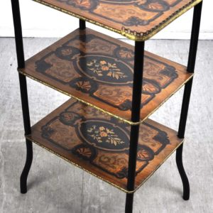 antique intarsia table