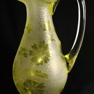Antique glass Jug with a special hole for ice