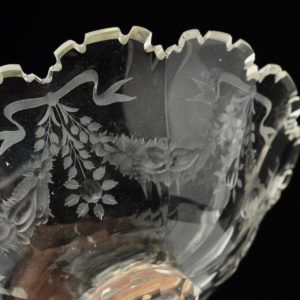 Antique glass bowl 19th century.