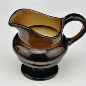 An antique glass jug