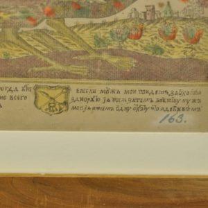 18 saj. koloreeritud gravüür (Venemaa)