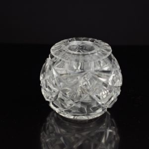 Antique inkwell, crystal