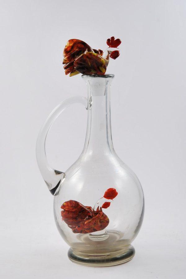 Antiikne kukega klaas karahvin