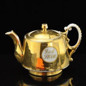 Antique golden Kuznetsov porcelain tea pot
