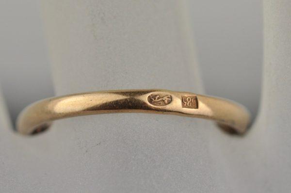 Antiikne kuldsõrmus 585 briljantidega