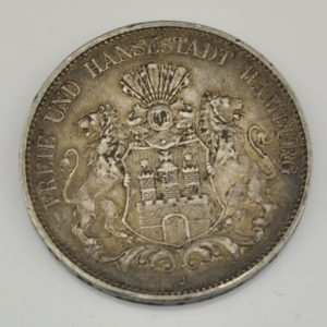 Antique coin, 5 mark, 1900