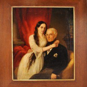 Antique painting by Carl Johann Lasch XIX c